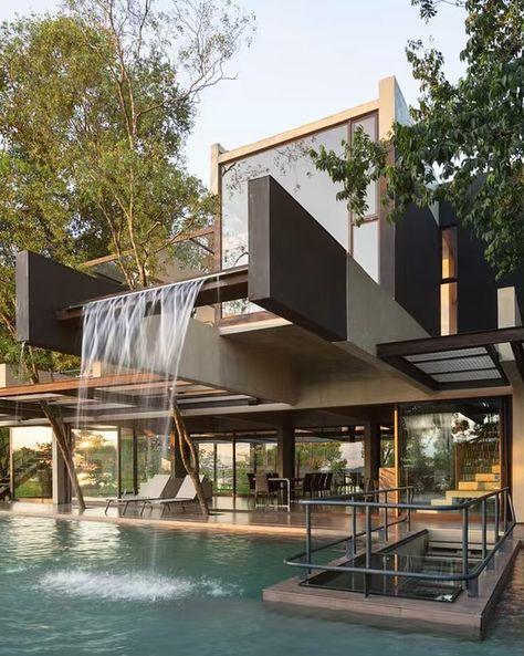 "Architecture & Design on Instagram: ""Hillside House by BAUEN architects . #luxury #luxuryhome #architect #luxuryhouse #arquitectura #luxurylife #luxurylifestyle #instadaily…"""
