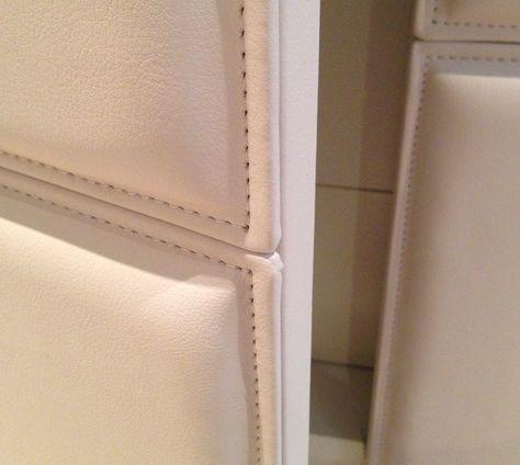 Bespoke wardrobe with leather doors