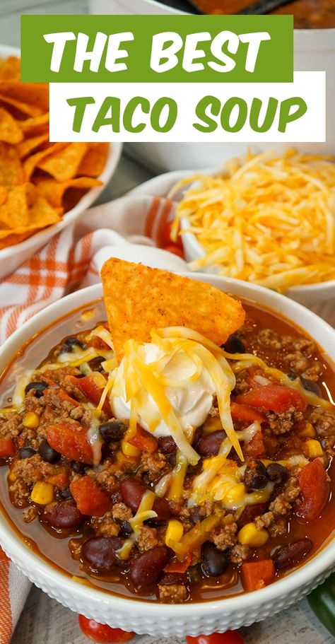 Mexican Soup Recipes, Beef Soup Recipes, Crockpot Recipes, Cooking Recipes, Healthy Recipes, Healthy Taco Soup, Mexican Beef Soup, Chilli Recipes, Easy Cooking