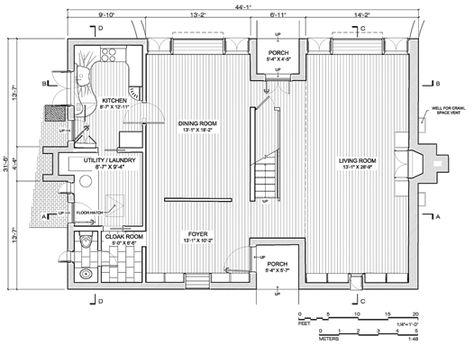 esherick house plan dimension - Google Search Modern Pinterest