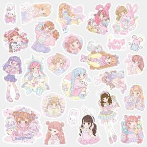 Kawaii Cartoon Girl Decorative Stickers DIY Diary Journal Planner Sticker 1 Pack