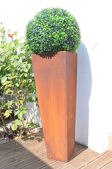Blumentopf  Blumen  Edelrost Desig  Zum Bepflanzen  Gartendekoration Terrasse