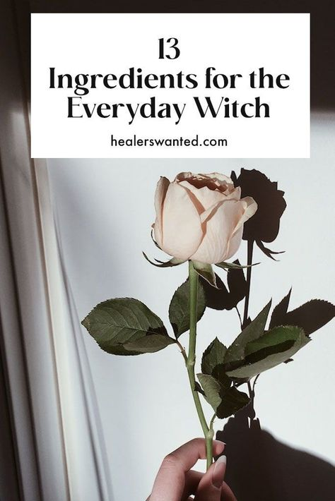 13 pantry staples for creating everyday magic. #spells #practicalmagic #witch #witchcraft