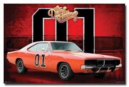The Dukes Of Hazzard Poster General Lee Car 01 New With Images