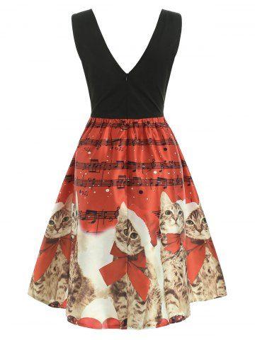 44++ Christmas dress cat print ideas