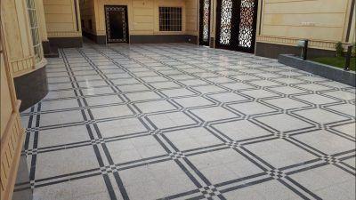 كم سعر جلي بلاط الحوش Tile Floor Flooring