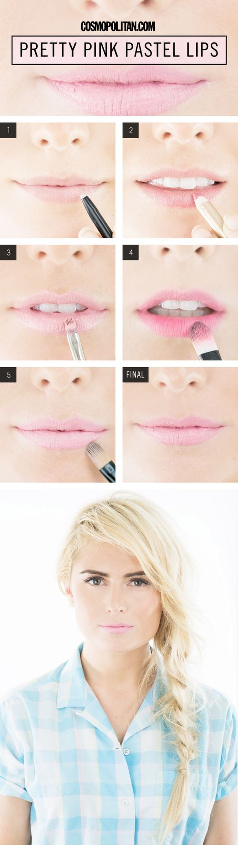 Pretty Pink Pastel Lips How-To - Pale Pink Lip Color Tutorial