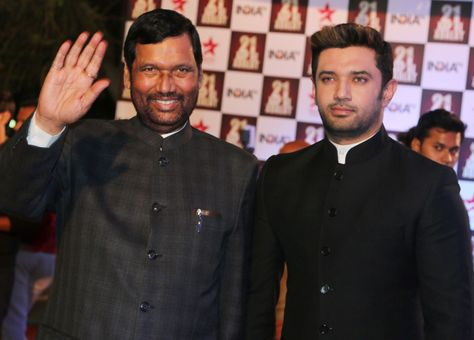 Politician Father Son Duo Ram Vilas Paswan And Chirag Paswan Clicked At 21yearsofaapkiadalat Event Celebrities Television Show Father And Son