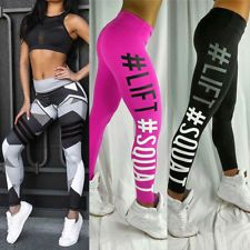 16f866371ad6f Women Yoga Running Pants Gym Workout Fitness Clothes Tights Sport Wear