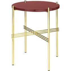 Gubi Ts Couchtisch Beistelltisch O 80 Cm H 35 Cm Tischplatte Glas Messing Rostrot Gubigubi In 2020 Decor Console Table Decorating Coffee Table