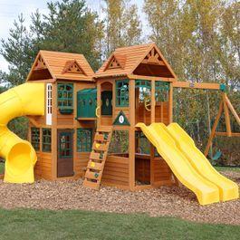 Kingsbridge Wooden Swing Set Playset Wooden Swing Set Wooden