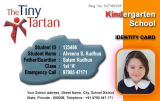 school id card format