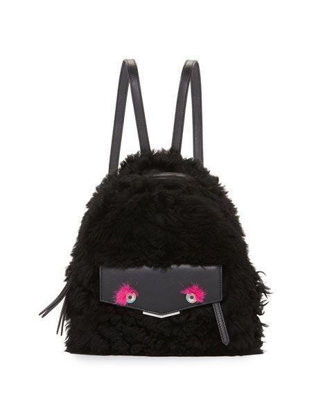 8bde15a00d36 FENDI Mini Monster Shearling Backpack