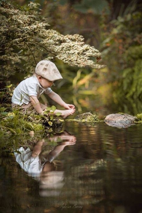 at the water's edge #boys #children #photography