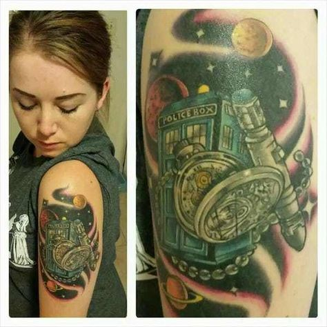 Calling all Whovians! Here are over 60 tattoos that are filled with references and gorgeous art that would please any Time Lord. From gorgeous Tardis art to the Gallifreyan alphabet, these tattoos will inspire any Doctor Who fan to proclaim their love to one of the most iconic science fiction...