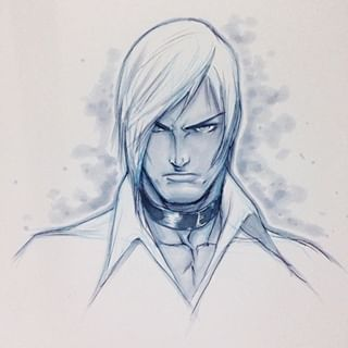 Iori Yagami After Shinkiro Was Requested To Do Him In A Similar Style Hope I Did Him Justice Iori Snk Capcom Copicmarker Alvinleeart