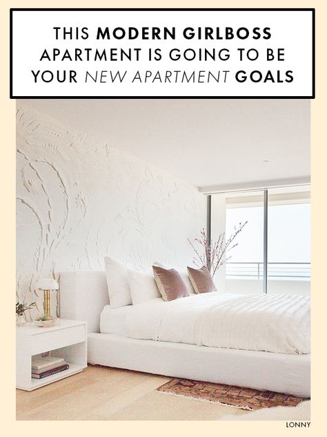 There's nothing more beautiful than an girlboss apartment that feels fresh, modern, and a little glam. Click to see the apartment that we've been obsessed with as of late. #girlboss #apartmentgoals #femininedesign