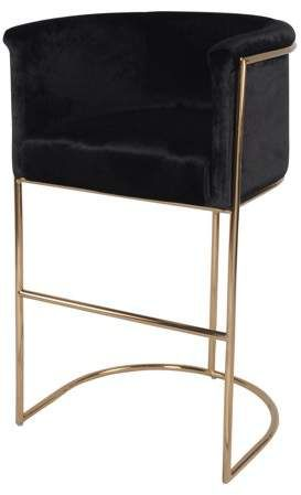 Glam Bar Stool Opulent Luxury And Remarkable Fashion In Plush