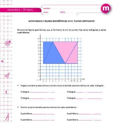 Figuras Geométricas En El Plano Cartesiano El Plano Cartesiano Material Didactico Matematicas Problemas Matemáticos