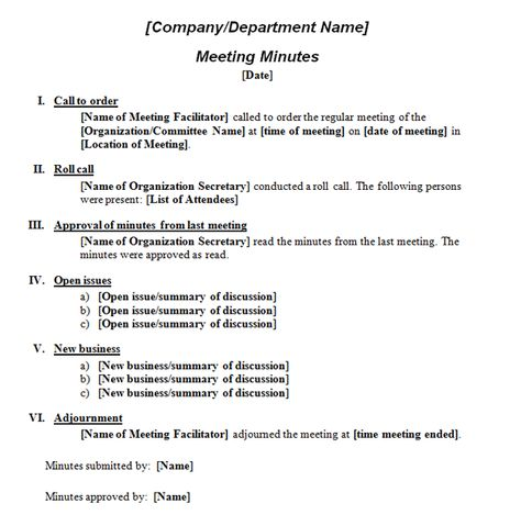 How to Write Meeting Minutes Expert Tips, Meeting Minutes - sample meeting summary template
