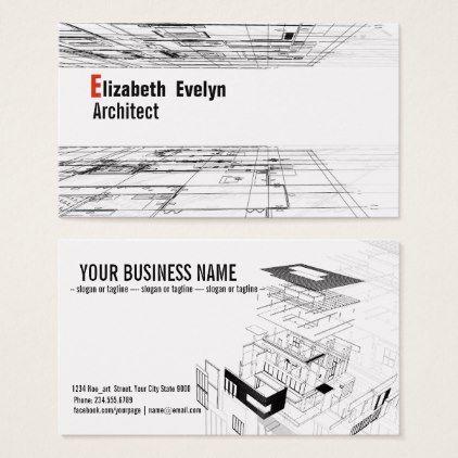 Architecture Background Design 001 Business Card Zazzle Com