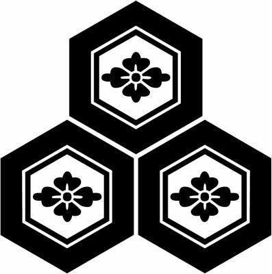 家紋 三つ盛り亀甲に花菱 Mitsumorikikko Ni Hanabishi With Images