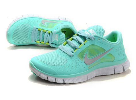 sale retailer a8ea4 12b52 Discount Tiffany Blue Nike Free Run 3 5.0 Pure Platinum Reflect Silver Aqua  Chrome