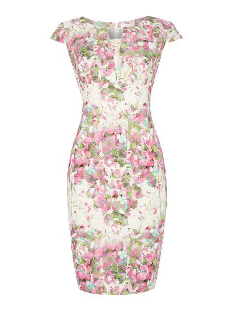 Linea Ella new vintage shift dress, Multi-Coloured