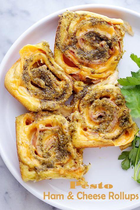 Pesto Ham and Cheese Rollups Recipe