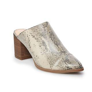 Kohls | Slip on mules, Ladies slips