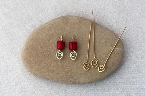 How to make decorative spiral end wire headpins to enhance your jewelry designs