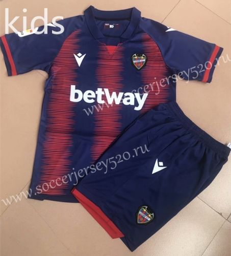 2019 2020 Levante Ud Home Blue Red Kid Youth Soccer Uniform Ay Soccer Uniforms Youth Soccer Soccer