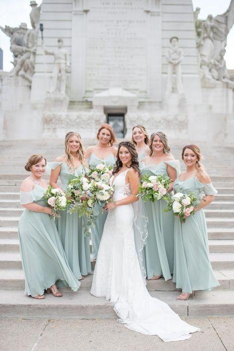 John And Kimberly S Wedding In Indianapolis Indiana Mint Green Bridesmaid Dresses Green Bridesmaid Dresses Bridesmaid Dresses