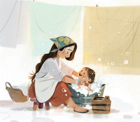 Mother and daughter on Behance