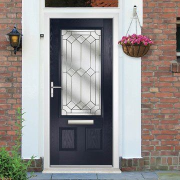 timeless design 4f461 83b60 Elton Composite External Door - Shown in Derwent Blue ...
