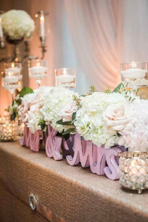 Wedding reception centerpiece idea; Featured photo: John Bello Photography; Coordinator: DreamGroup Productions