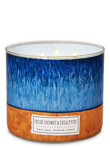 Bath and Body Works White Barn 3 Wick Scented Candle Mineral Springs 14.5 Ounce with Essential Oils