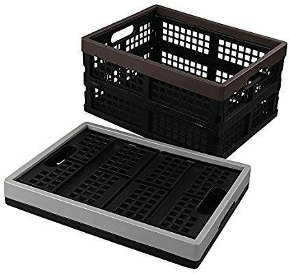 Cadine Plastique Caisse Caisse De Rangement Pliable Lot De 2 Amazon Fr Cuisine Maison Caisse Rangement Caisse Rangement Plastique