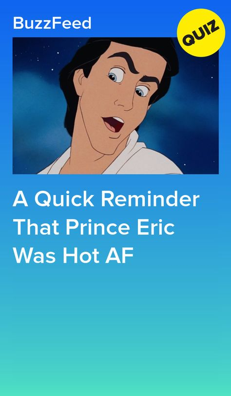 A Quick Reminder That Prince Eric Was Hot AF