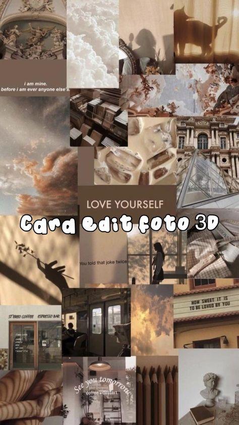 Tutorial edit foto 3D via capcut #tutorialeditfoto3dcapcut