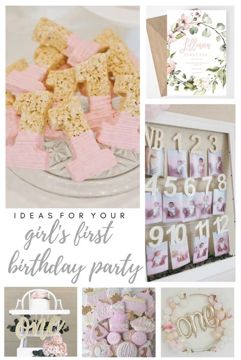 This printable first birthday invitation is a must have for your baby girl's birthday! Featuring blush pink watercolor florals and gold designs! First Birthday Theme Girl, 1st Birthday Invitations Girl, 1st Birthday Party Themes, Printable Birthday Invitations, Happy Birthday, 1st Birthday Girl Party Ideas, Gold Birthday, Thanksgiving Birthday Parties, 1st Birthday Decorations
