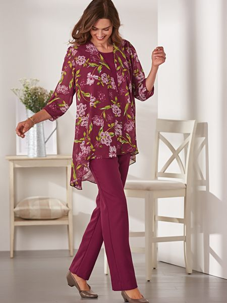 Womens Duster Pant Suits