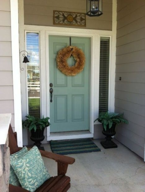 Entryway Decorating Ideas Wythe Blue For The Front Door Find Even More Entryway Front Porch Decor Inspiration A House Colors Front Door Colors Front Door