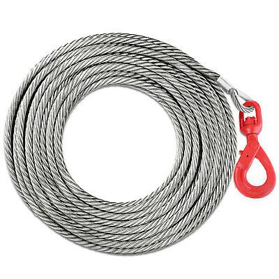 Ad Ebay 1 4 X 50 Winch Cable With Self Locking Swivel Hook Replacement Steel 2200lbs Winch Cable Winch Truck Flatbeds