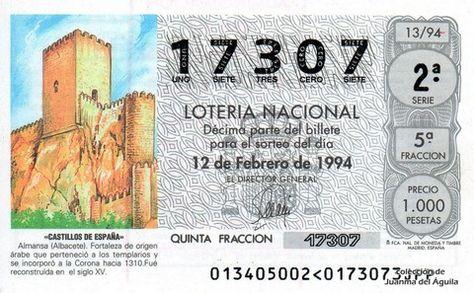 Décimo Del Sorteo Extraordinario De Lotería De San Valentin Celebrado El 12 De Febrero De 1994 Coleccionismo Loteria Col Lotería Nacional Lotería Sorteo