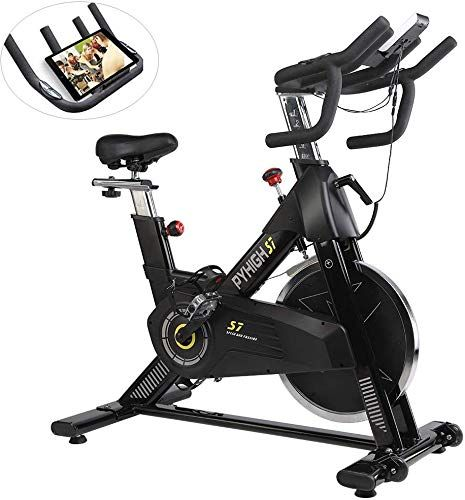 Beautiful Pyhigh Indoor Cycling Bike 48lbs Flywheel Belt Drive Stationary Bicycle Exercise Bikes With Lcd Monitor Bicycle Workout Biking Workout Exercise Bikes