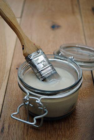 Flour, sugar, water & white vinegar = better cheaper Mod Podge * what I've been looking for!