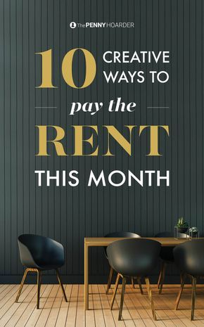 9 Creative Ways To Pay Rent When The Bank Account Is Near Zero Money Matters Money Saving Tips Real Estate Investing Rental Property