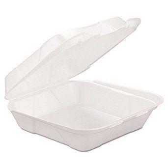 Genpak Hingedm1 Foam Hinged Container White 2 Packs Of 100