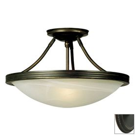 Item 432317 Model 660480orb Galaxy 15 In W Oil Rubbed Bronze Marbleized Semi Flush Mount Light